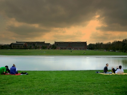 Westerpark under an ominous sky