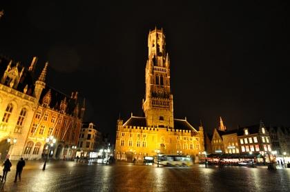 The 13th century Belfort, on Bruges' Markt Square.